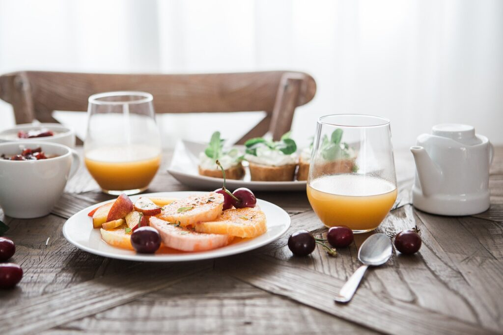 Cuántas calorías contiene un desayuno